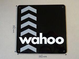 Wahoo Turbo Trainers, Wahoo kickr, Acrylic Sign, Black, White & Grey 190 X 190mm