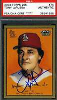 Tony Larussa 2003 Topps T-205 Psa/dna Coa Signed Original Authentic Autograph