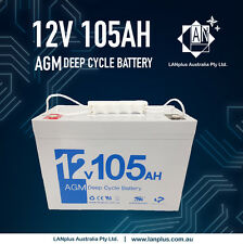 12V 105AH SLA AGM DEEP CYCLE BATTERY Marine CARAVAN SOLAR Camp Fridge 4WD >100Ah