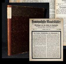 1917 Homöopathie Wolf Reichert Homöopathische Monatsblätter