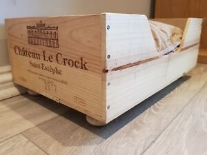 Reclaimed wooden wine box PET BED for small dogs & cats