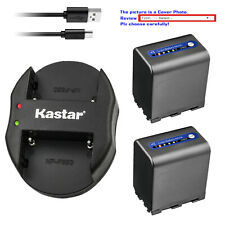 Kastar Battery Oval Dual Charger for Sony NP-QM91D & Cyber-shot DSC-F828 DSC-R1
