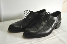 VINTAGE GIANNI VERSACE SIGNATURE BROGUE SHOES 8.5 UK RARE
