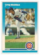 Topps Rookie Greg Maddux Chicago Cubs Baseball Cards