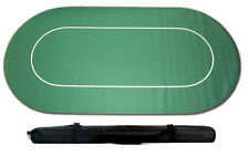 More details for poker table game cloth layout rubber backed non slip c/w carry case 180 x 90cm