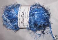 NEW SAROS SOFT TEAL BLUE EYELASH YARN DUTCH AUCTION