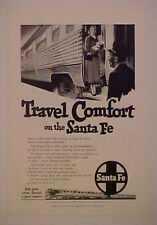 1950 SANTA FE RAILROAD~TRAIN BLACK PORTER AMERICANA AD