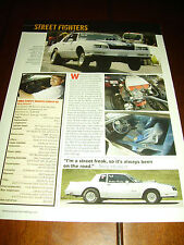 1984 CHEVROLET MONTE CARLO SS HOT ROD  ***ORIGINAL 2007 ARTICLE***