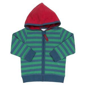 BNWT! Soft stripy zipped hoodie. 100% Organic cotton. UK Stock