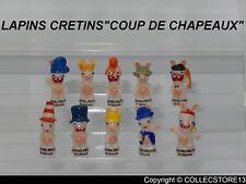 """SERIE COMPLETE DE FEVES LES LAPINS CRETINS """"COUP DE CHAPEAUX"""" 2019"""