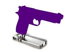 38 Super & 9mm Single Stack Width Pistol Display Stand Clear Acrylic Gun Rack