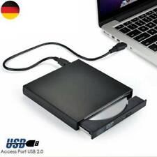 Externes DVD Laufwerk USB 2.0 Brenner Slim CD DVD-ROM Brenner für PC Laptop DE