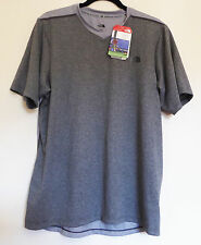 The North Face Men's REACTOR V-NECK Wicking Running S/S T-Shirt TNF Med Grey M