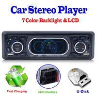 Single 1Din Car Stereo MP3 Music Player FM Radio Bluetooth RCA AUX USB U Disk RC