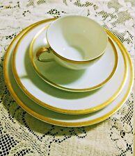 Theodore Haviland Dinnerware LIMOGES Porcelain Gold Wedding Ring Pattern Empire