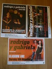 Rodrigo Y Gabriela - Scottish tour Glasgow concert gig posters x 3