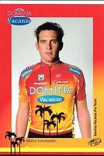 CYCLISME carte cycliste MIRCO LORENZETTO équipe DOMINA VACANZE 2005