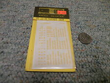 CDS Dry Transfers  decals HO HO-128 Central New Jersey passenger green    M25