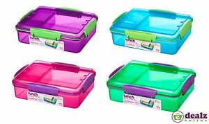 Sistema Snack Attack Duo Work School Lunch Food Box Container 975ml BPA Free