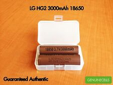 2x LG HG2 18650 3000mAh 20A HighDrain IMR Rechargeable Lion Battery -INR18650HG2