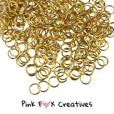 500 un. 6 mm Chapado en Oro Anillos de Salto Metal Joyería encontrar Craft Collar 0.7 mm