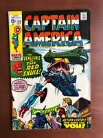Captain America #129 (1970) 7.5 VF Marvel Key Issue Comic Bronze Age Red Skull