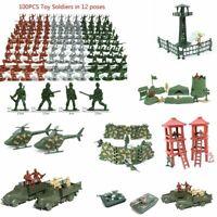Tanques Torreta Army Men figuras Juguete militar 12 poses Soldados de plastico