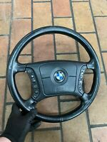 BMW 5er E39 7er E38 Volante IN Pelle Multifunzione Airbag Volante 4-Speichen