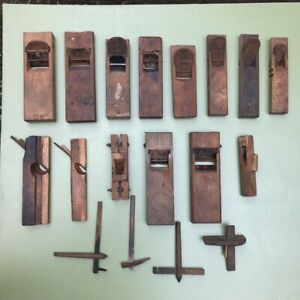 LOT 18 Japanese WOOD PLANES KANNA SET (old woodworking tool) USED JAPAN F7464