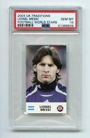 LIONEL MESSI Argentina 2004 UK Traditions Football RC Card Gem Mint PSA 10