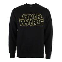 Star Wars Logo - Mens Crew Sweater Jumper - Black - Official - S-XXL