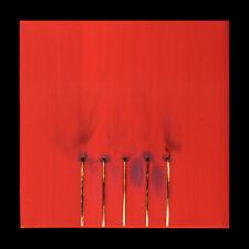 Bernard Aubertin fiammiferi e conbustioni su tela 30x30