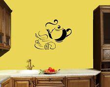 Wall Decal Tea Coffee Kitchen Decor Food Drink Breakfast Vinyl Sticker (ed819)