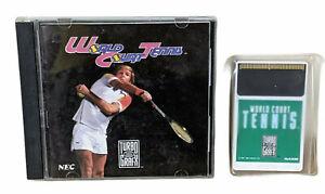 World Court Tennis Turbografx 16 Turbo PC Engine HuCard Game Manual NEC 1991