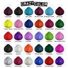 CRAZY COLOR SEMI PERMANENT HAIR DYE 100ml -All colours Available-Free UK Postage