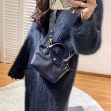 Longchamp Le Pliage Cuir Leder Damentasche Schultertasche Handtasche Schwarz