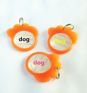 Luminous Personalized Engrave Text Pet Id Tags Dog Cat id Tag Identification