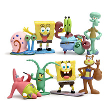 8pcs SpongeBob Square Pants play Action Figurines Cake Topper kid gift US Seller