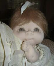 "OOAK VINTAGE Handmade *SOFT SCULPTURED 12"" BABY DOLL*...TOO CUTE ! LQQK !"