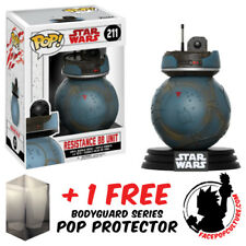 Funko Pop Star Wars Ep 8 Resistance Bb Unit Exclusive + Free Pop Protector