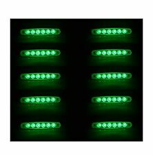 10X 12V LED 6SMD GREEN SIDE MARKER LIGHTS TRUCK LORRY TRAILER BUS CAMPER CARAVAN