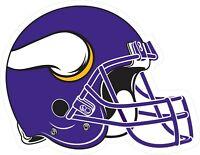 Minnesota Vikings Helmet Decal ~ Car Vinyl Sticker - Wall Graphics - 6 Sizes