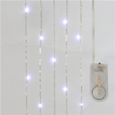 Copper LED Fairy Lights On Wire 2 Metre With 20 Clear White  Battery Powered