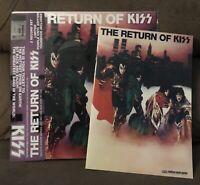 Kiss The Return of Kiss LP Purple Double Vinyl Record & Tour Book