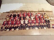 GENOA CALCIO 1893 FOTO SQUADRA 1990 SU LASTRA METALLICA - SKUHRAVY BAGNOLI.....