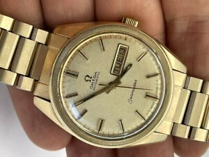 RARE 1969 OMEGA AUTOMATIC 750 SIGNED CROWN ORIGINAL DIAL ORIGINAL BRACELET RUNS
