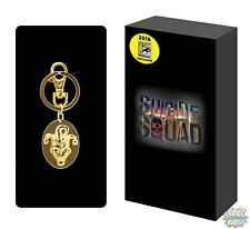 Suicide Squad Joker Keychain SDCC 2016 Oval Golden Pewter Key Chain The Joker