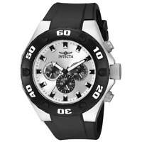 Invicta 21403 Gent's Black Polyurethane Strap Silver Dial Watch