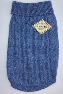 St. John's Bark Quality Pet Apparel Dog Sweater Medium (Chest 19-24in) Blue