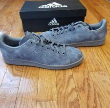 New Adidas Originals Stan Smith Onyx Gray Suede Premium Men's Shoes S75108